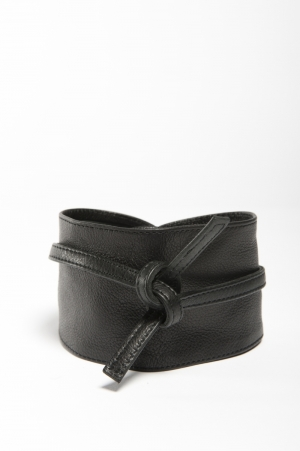 PCVIBS LEATHER TIE WAIST BELT logo